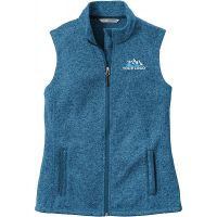20-L236, X-Small, Medium Blue Heather, Left Chest, Your Logo.